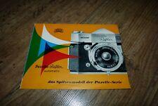 Braun Paxette Reflex Automatic Kamera Prospekt/Broschure