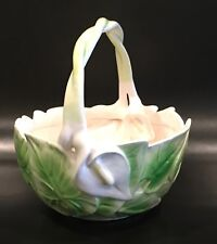 Fitz and Floyd Calla Lily Basket Bowl 1982