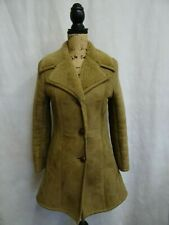 Women's Brown Sheepskin Shearling Coat Size 6
