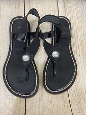Bernardo Women's sandals Size 7 M Black Things With Rhinestone Style 8108