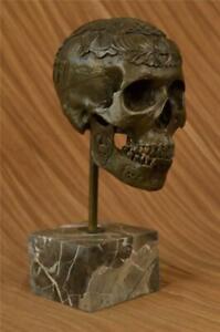 """Messingskulptur Zucker Totenkopf """" Dia De Los Muertos Morbid Kunst Heimbüro"""