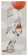 Keilrahmen Disney Wandbild Winnie Puuh Luftballon Junge Mädchen grau rot 33x70cm