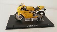 Motorrad Modell Ducati 749 gelb Ixo Altaya 1:24