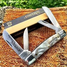 "Imperial Schrade Congress 3 1/2"" Pocket Knife Cracked Ice Handles New! IMP20CI"