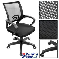 Black PE Ergonomic Swivel Mesh Computer Office Chair Desk Task Midback Task