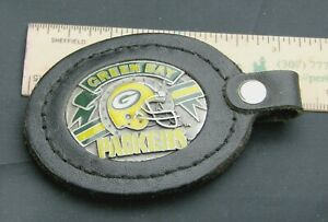 NFL Green Bay Packers Leather & Metal Key Fob