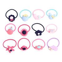 10pcs Girls Elastic Hair Ties Band Ropes Ring Ponytail Holder Bracelet Scrunchie