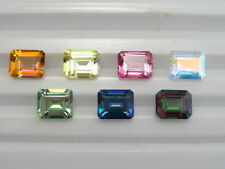Loose 10x8mm Emerald Cut Mystic Topaz ~7 Colors Avail.