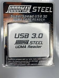 Hoodman Raw Steel UDMA Card Reader SuperSpeed USB 3.0