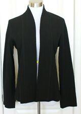 Eileen Fisher Womens Black Open Front Cardigan Jacket Viscose Nylon Blend Size M
