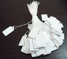 lot 100 etiquettes prix vente bijoux fil coton blanc 23x13 mm blanc NEUF