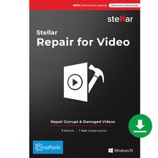 Stellar Repair for Video Software|Windows|Standard|Repair Corrupt Video|Download
