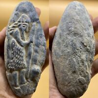 Rare wonderful Ancient carving stone king statue beautiful unique piece