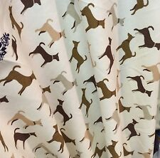 0.25m Brown Grey White Dog Puppy Print Cotton Craft or Dress Fabric