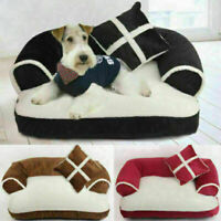 Pet Dog Bed Doggy Kennel Cushion Basket Pad Cat Puppy Bed Soft Couch Sofa Chair