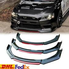 FOR 2008-2015 MITSUBISHI EVO X 10 GLOSS BLACK FRONT BUMPER LIP SPOILER SPLITTER