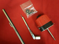 Universal Red/Black Windshield Wiper Kit, 12V Motor, Chevy Ford Mopar Jeep