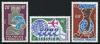 Frz. Polynesien Polynesia 1970 PATA Tourismus Tourism Flugzeug Globus 108-10 MNH