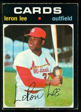 1971 TOPPS OPC O PEE CHEE BASEBALL #521 LERON LEE EX-NM ST LOUIS CARDINALS CARDS