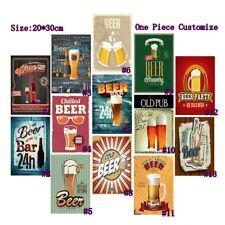 Retro Metal Tin Signs Beer Bar 24h Vintage Plate Pub Bar Art Wall Decor Poster