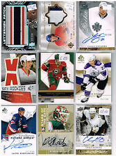 HUGE Lot Of 2008-09 Autos - Game Used - Rookies - Parallels - Inserts - Base