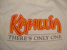 Vintage Kahlua There's Only One Coffee Flavored Liquor White T Shirt Size L