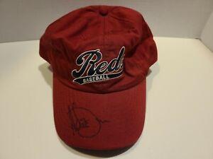 Adam Dunn signed hat, Cincinnati Reds, 100% cotton, dark red