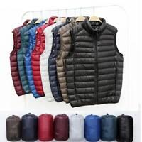 Men's Winter Ultralight Duck Down Jacket Thicken Hooded Puffer Warm Outwear Vest