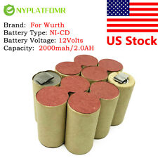 For Wurth 12V 2000mAh BS12-A Solid SD12 Self-installation NI-CD Battery pack