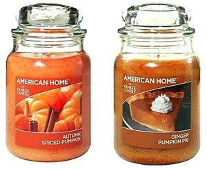 YANKEE Candle LOT Autumn Ginger Spiced Pumpkin Pie FALL Food Scented Fragrance