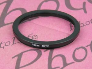 52mm to 46mm 52mm-46mm Stepping Step Down Filter Ring Adapter
