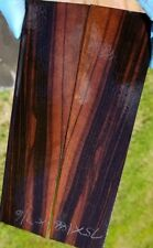 Stabilized macassar ebony exotic wood scales knife Crafts 1911 gun grips
