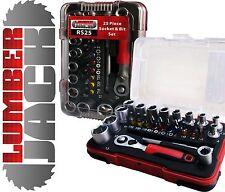 "25 Pc 1/4"" Metric Sq Drive Hex Socket & Screwdriver Bit Set Mini Ratchet & Case"
