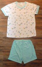 Pyjama Gr.36/38 S Shirt Short kurz KISS 1A-Qualität weiß mint Zitronen Cocktail