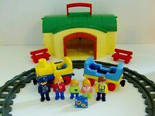 Playmobil 123 Train Set with Railway Station & Figures
