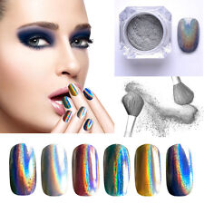 Holographic Colorful Nails Effects Ultra Fine Chrome Powder Pigment Polish Beaut