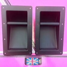 (pair) large recess bar handles for speakers or case in metal