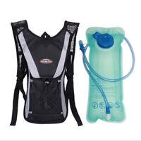 2L Water Bladder Bag Sport Backpack Hydration Packs vest Camelbak Hiking Camping