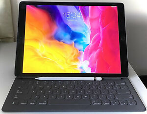 Apple iPad Pro 12.9in 128GB WiFi (Space Grey) + Pencil + Keyboard, RRP. £999.00
