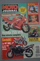 MOTO JOURNAL N°1099 HONDA CB 500 VFR 750 INDIAN 1700 SCOUT SUZUKI RF 900 R 1993