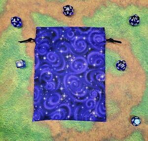 Purple Starry Sky dice bag, card bag, makeup bag