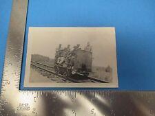 Vintage Photo of Workmen on Railroad Trolley, S1874