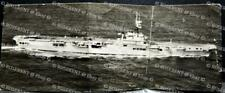 cWW2 Fleet Aircraft Carrier HMS Venerable with Aircraft  -photo 17cm by 6.5cm