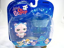 BNIB LITTLEST PET SHOP CAT WITH CUP AND TIARA #460