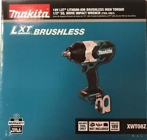 Makita XWT08Z 1/2 Brushless High Torque 18 volt BL Impact NEW 2 DAY SHIP