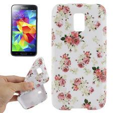 Case f Samsung Galaxy S5 mini Schutzhülle Tasche Cover TPU Blumen Flowers Etui