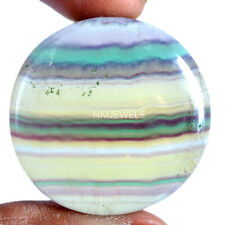 Cts. 84.60 Natural Yellow Multi Fluorite Cab Round Cabochon Loose Gemstones