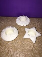 Partylite Sea Life floating porcelain tealight holders set of 3