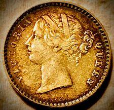 India (British East India Company) 1841 ~2 Annas LIGHTLY TONED