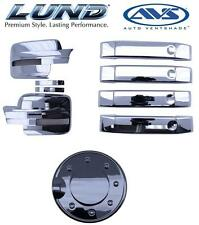 *NEW* Lund AVS Combo Kit Ford Chrome Door Lever Covers, Fuel Door Mirror Covers